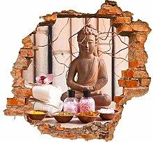 wandmotiv24 3D-Wandsticker Buddha in der