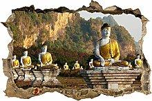 wandmotiv24 3D-Wandsticker Buddhas Statuen Design