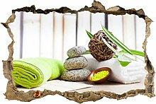wandmotiv24 3D-Wandsticker Handtücher und Salz,