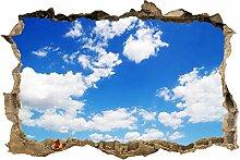 wandmotiv24 3D-Wandsticker Himmel Natur Design 01