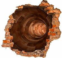 wandmotiv24 3D-Wandsticker Holztunnel Design 02 -