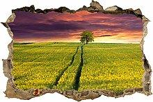 wandmotiv24 3D-Wandsticker Landschaft mit einem
