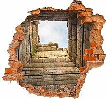 wandmotiv24 3D-Wandsticker Ruinen mit Blick auf