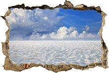 wandmotiv24 3D-Wandsticker Sand Landschaft mit