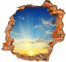 wandmotiv24 3D-Wandsticker Sonnenaufgang Natur