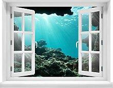 wandmotiv24 3D-Wandsticker Unterwasser-Bild aus