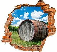 wandmotiv24 3D-Wandsticker Weinfass in der Toskana