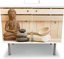 wandmotiv24 Badunterschrank Finnische Sauna,
