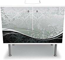 wandmotiv24 Badunterschrank weiß, Eleganter