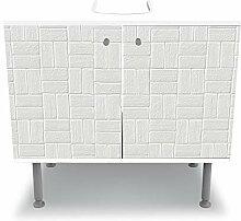 wandmotiv24 Badunterschrank weiß, Weißes