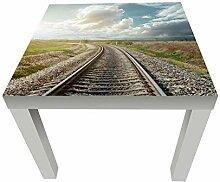 wandmotiv24 Beistelltisch Eisenbahn mit
