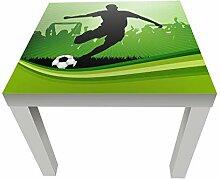 wandmotiv24 Beistelltisch Fussball Designtisch