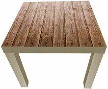 wandmotiv24 Beistelltisch Holzwand Designtisch