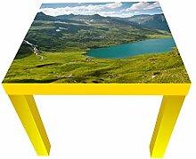 wandmotiv24 Beistelltisch Kaukasischen Berge