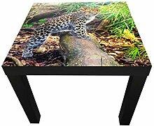 wandmotiv24 Beistelltisch Kleiner Leopard