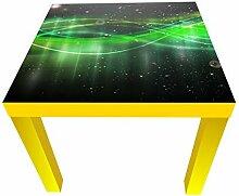 wandmotiv24 Beistelltisch Neonlicht Designtisch