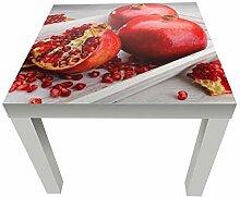 wandmotiv24 Beistelltisch Rote Granatapfelfrüchte