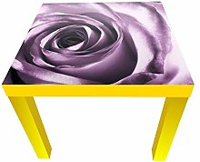 wandmotiv24 Beistelltisch Violette Rose