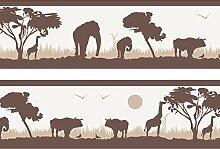 wandmotiv24 Bordüre Afrika 260cm Breite -