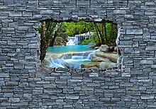 wandmotiv24 Fototapete 3D Erawan Wasserfall im