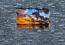 wandmotiv24 Fototapete 3D Sonnenuntergang - grobe