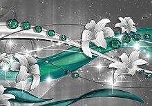 wandmotiv24 Fototapete Abstrakt Diamant Lilie