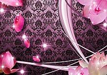 wandmotiv24 Fototapete Blüten Rosa Ornament XS