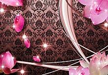 wandmotiv24 Fototapete Blüten Rot Ornament M1600