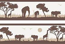wandmotiv24 Fototapete Bordüre Tapete Afrika