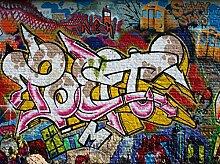 wandmotiv24 Fototapete Graffiti Poet Größe: 350