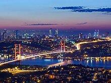 wandmotiv24 Fototapete Istanbul bei Nacht Größe: