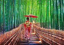wandmotiv24 Fototapete Japanische Frau mit