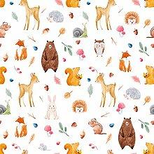 wandmotiv24 Fototapete Kinderzimmer Tiere Wald