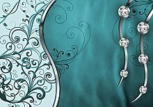wandmotiv24 Fototapete Leder Diamant abstrakt