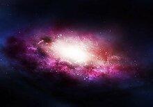 wandmotiv24 Fototapete Lila Galaxy XL 350 x 245 cm