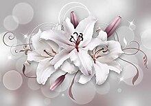 wandmotiv24 Fototapete Lilie Floral Muster XS 150