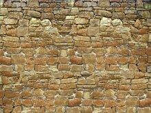 wandmotiv24 Fototapete Natursteinmauer KT32 Größe: 350x260cm Tapete Mauer Wand Sandstein