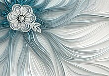 wandmotiv24 Fototapete Perle Blume Tuch XL 350 x