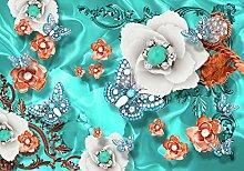 wandmotiv24 Fototapete perlen Blumen Diamanten
