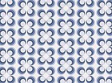wandmotiv24 Fototapete Retrokreise Blau Muster