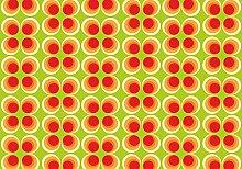 wandmotiv24 Fototapete Retrokreise Orange Muster