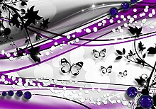 wandmotiv24 Fototapete Schmetterling Ranken