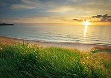 wandmotiv24 Fototapete Sonnenuntergang an der