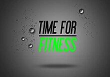 wandmotiv24 Fototapete Spruch Time for Fitness,