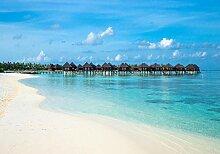 wandmotiv24 Fototapete Strand Malediven L 300 x