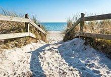 wandmotiv24 Fototapete Strandzugang Meer Weg, M