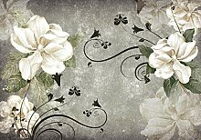 wandmotiv24 Fototapete Vintage Blumen Ornamente L