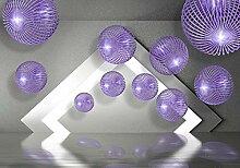 wandmotiv24 Fototapete Violett Kugeln 3D Effekt XL