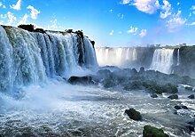 wandmotiv24 Fototapete Wasserfall mit Steinen, XS