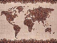 wandmotiv24 Fototapete Weltkarte Kaffee Größe: